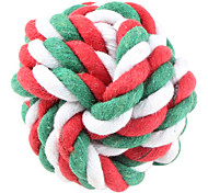 Dogs Toys Ball Woven Textile Green