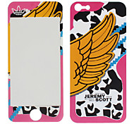 Wing Pattern Front and Back Protector Stickers for iPhone 5