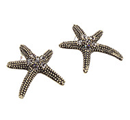 Sea Star Diamond Inlaid Earrings