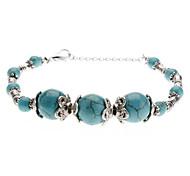 Women's Ancient Silver Turquoise Bracelet