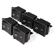 Control de Energía Eléctrica On / Off Interruptores basculantes (5-Piece Pack)
