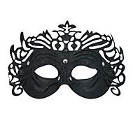 Black Golddust Decoration Costume Half-face Mask