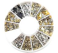 1pcs in metallo colore delle unghie Decorazioni