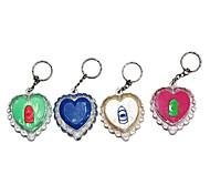 Outdoor Mini Key Chain and Loving Heart Flashlight (Random Colors)