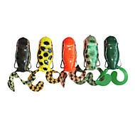 Snakehead Frog Water Surface Plastic Fishing Lure 50MM 10G(1pc/Color Assorted)