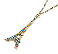 Gun Color Plated The Eiffel Tower Alloy Necklace