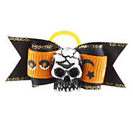 Halloween Skull Style Tiny Rubber Band Hair Bow for Dogs Cats