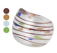 Chromatic Stripe Colored Glaze Ring