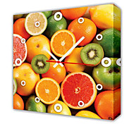 Modern Style Fruits Wall Clock in Canvas