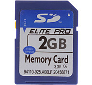 2 GB Hi-Speed ​​Elite Pro Tarjeta de memoria SD