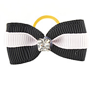 Cat Dog Hair Accessories Hair Bow Dog Clothes Black Blushing Pink