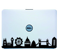 Laptop Skin Londres Cover Art Sticker Decal para el MacBook Air Pro / Dell / HP / Compaq / Acer / Lenovo / Sony (Negro)