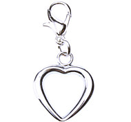 Cat / Dog Tag Heart Shaped Silver Metal