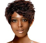 capless court synthétique de haute qualité comparer la nature la lumière perruque brune cheveux bouclés (0463-282)