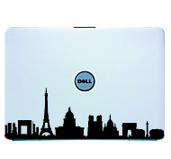 Laptop Skin París Cover Art Sticker Decal para el MacBook Air Pro / Dell / HP / Compaq / Acer / Lenovo / Sony (Negro)