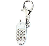 Rhinestone Decorated Mobile Phone Style Collar Charm for Dogs Cats