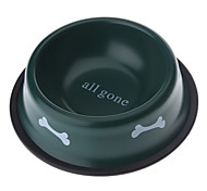 Metal Small Dog Bone Style Pet Food Bowl for Dogs Cats