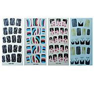 19pcs Full Cover Other Finger Nail Sticker