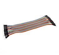 dupont macho a macho cable de línea 40p-40p prueba de líneas de conector de cable (20 cm)