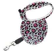 Lovely Leopard Printing Style Automatic Dog Leash