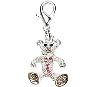 Rhinestone Decorated Small Bear Style Collar Charms for Dogs Cats