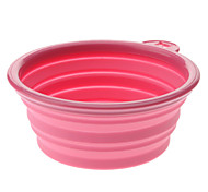 Foldable and Portable Silicone Pet Bowl for Dogs Cats (Assorted Color)
