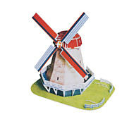 45 Pieces DIY Architecture 3D Puzzle Holland Windmill (difficulty 4 of 5)