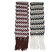 Deniso—Hand Woven Snowproof and Windproof Scarf(Khaki and Grey)