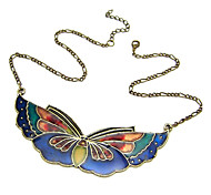 Vintage Butterfly Acrylic Alloy Necklace