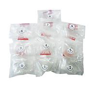 500PCS Full Cover Transparent Plastic Nail Art Tips