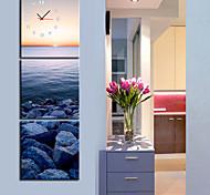 moderno reloj de pared escénica en la lona 3pcs K0012