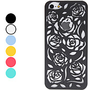 Hollow Out Style Rose Pattern Hard Case for iPhone 5 (Assorted Colors)