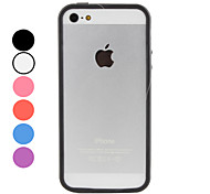 Acceptique - Etui iPhone 5 - Design spécial - Cadre de pare-chocs (Polycarbonate, Rouge)
