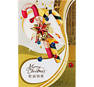 10-Pack Hollow Pattern Christmas Greeting Card with Envelope (10-inch)