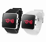 Par de Relógios LED Desportivos (Branco e Preto)