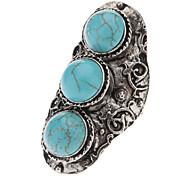 Tibetan Silver Green Turquoise Ring