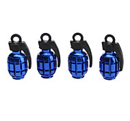 Antitank Grenade Style Tire Valves Decoration Cap for Car (Assorted Color,4-Piece)