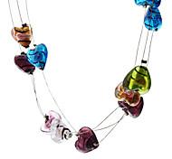 Heart Shape Coloured Glaze Necklace