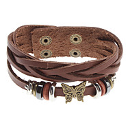 Z&X®  Butterfly Rivet Leather Bracelet