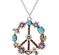 Colorido Colar da Paz Padrão Símbolo