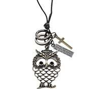 Z&X®  Owl Pattern Cow Leather Necklace