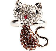 Lovely Cat Pattern Adjustable Alloy Ring