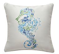 seahorse náutico impressão fronha decorativo