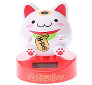 Solar Powered Cute Lucky Cat Head Shaking Desktop Toy