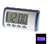 """2,5 """"ЖК-голубой подсветкой разговора цифрового будильника (2xAA)"""