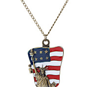 Statue of Liberty Metal Necklace