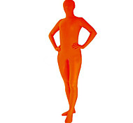 Unicolor Orange Unisex Spandex Zentai Suit
