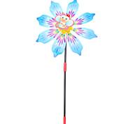 "10"" 6-Petal Flower Garden Spinner (Random Color)"