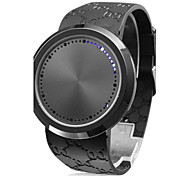 Men's Watch Touch Screen Blue LED Flashing Silicone Strap