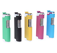 Rubber Cover Bright Color Windproof Gas Lighter (Random Color)